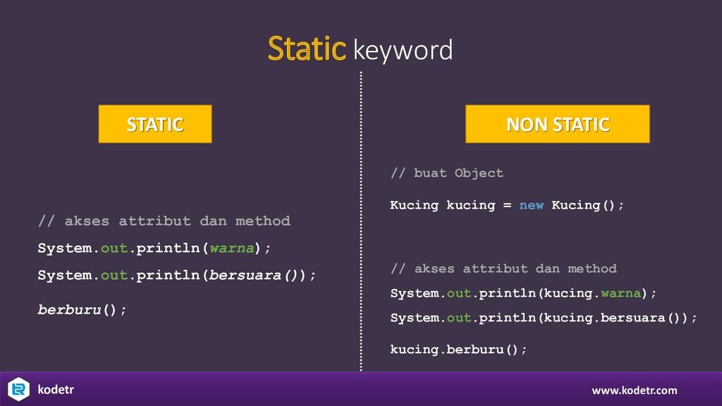 www.kodetr.com kodetr Static keyword STATIC NON...