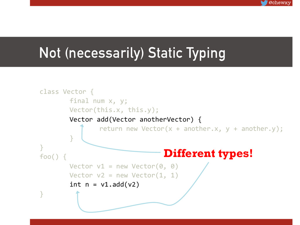 @chewxy Not (necessarily) Static Typing class...