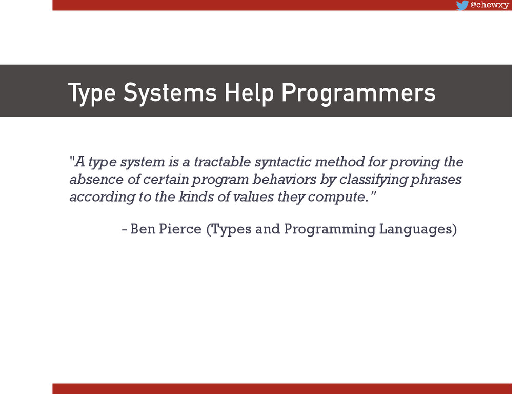 """@chewxy Type Systems Help Programmers """"A type ..."""