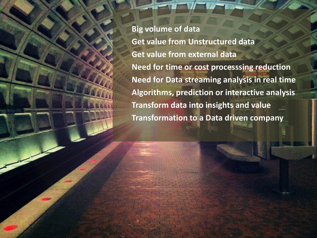 Big volume of data Get value from Unstructured ...
