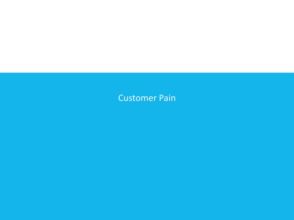 Customer Pain