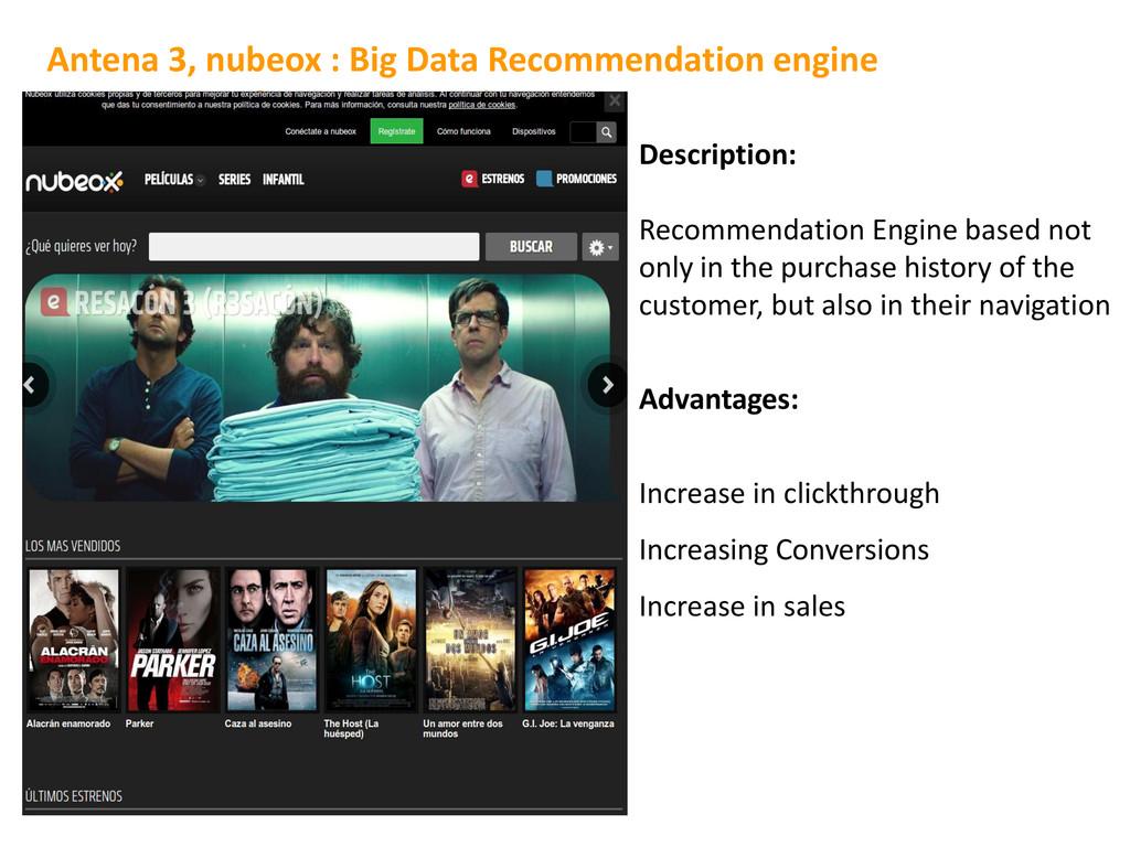 Description: Recommendation Engine based not on...