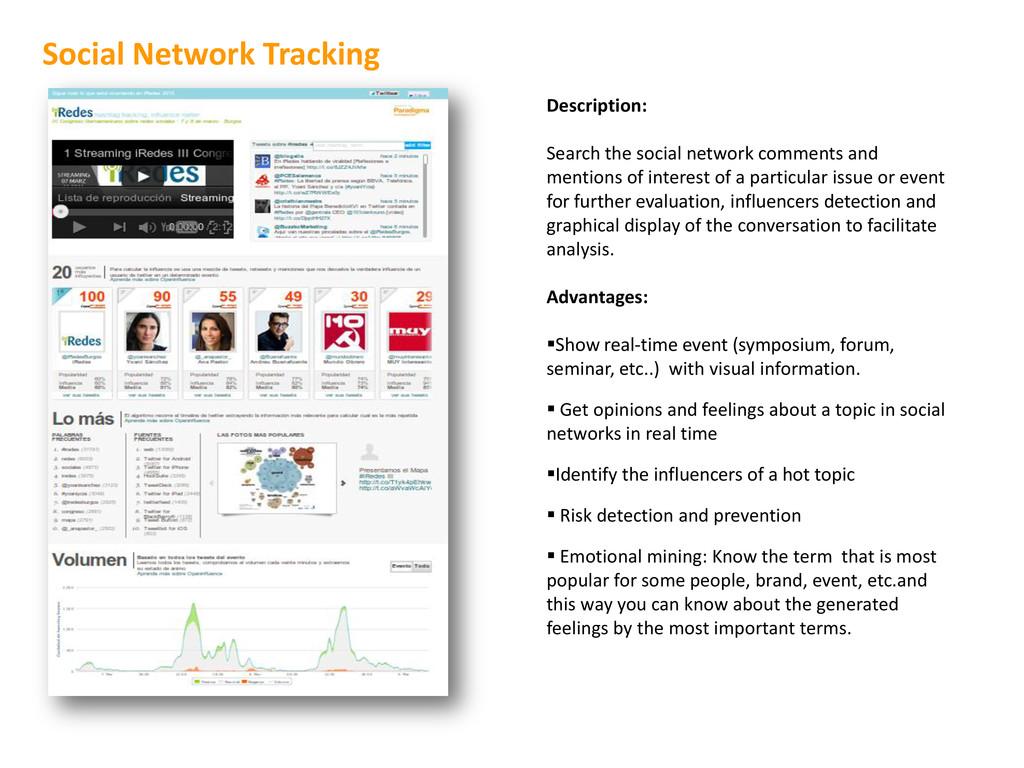 Description: Search the social network comments...