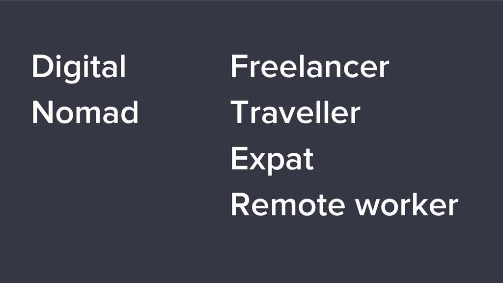 Digital Nomad Freelancer Traveller Expat Remote...