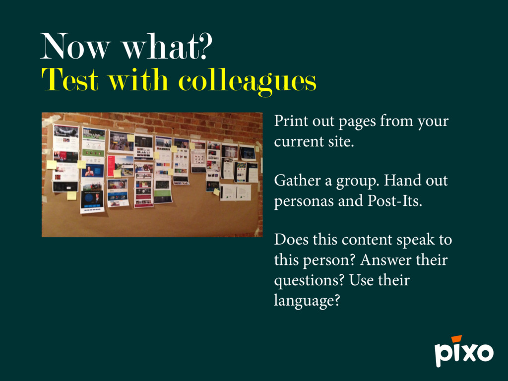 Now what? Print out pages from your current sit...