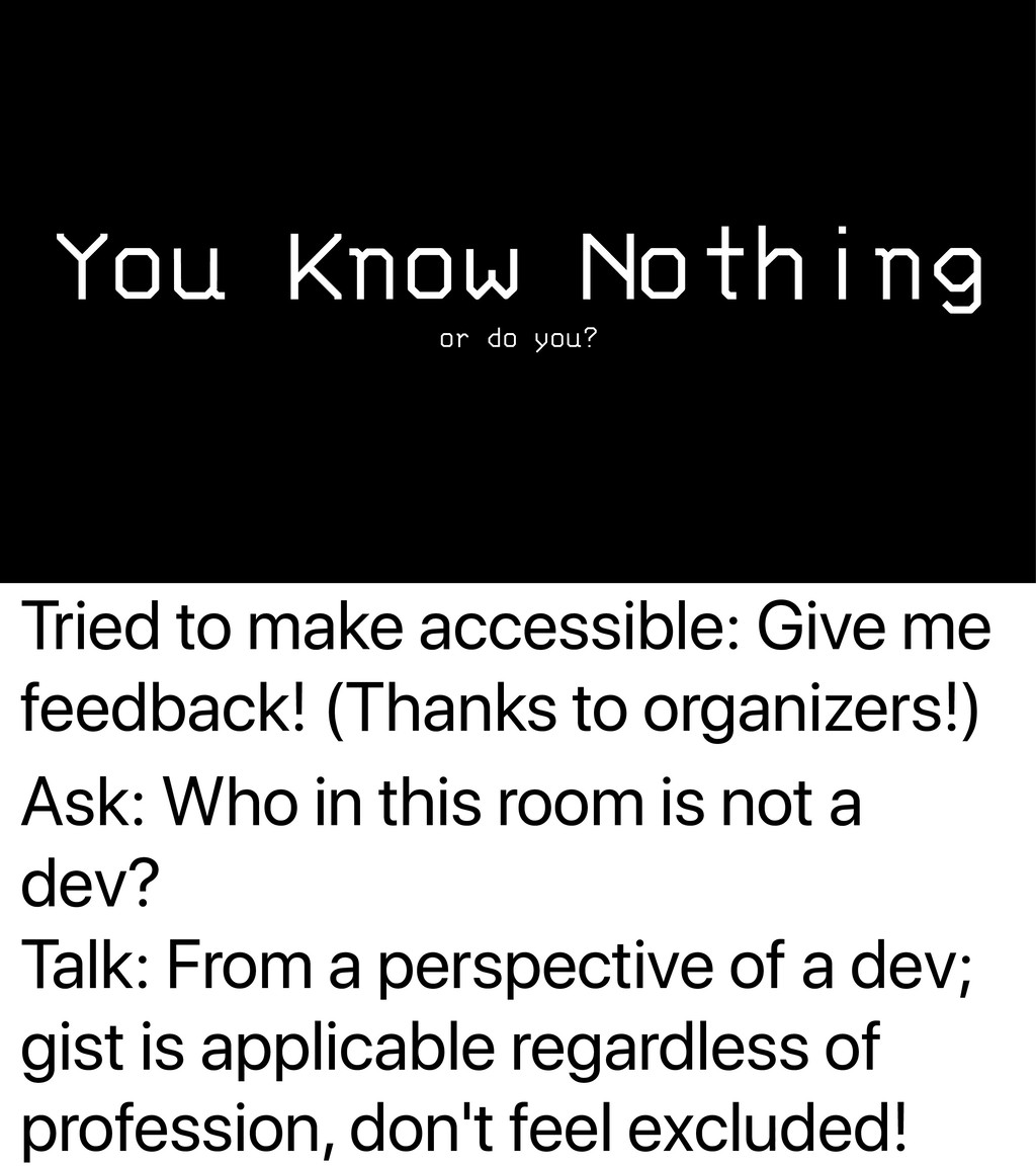 Tried to make accessible: Give me feedback! (Th...