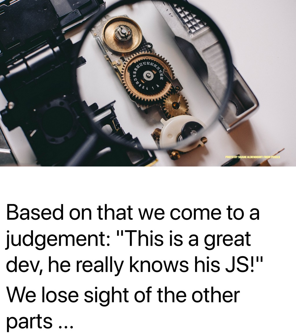 """Based on that we come to a judgement: """"This is ..."""