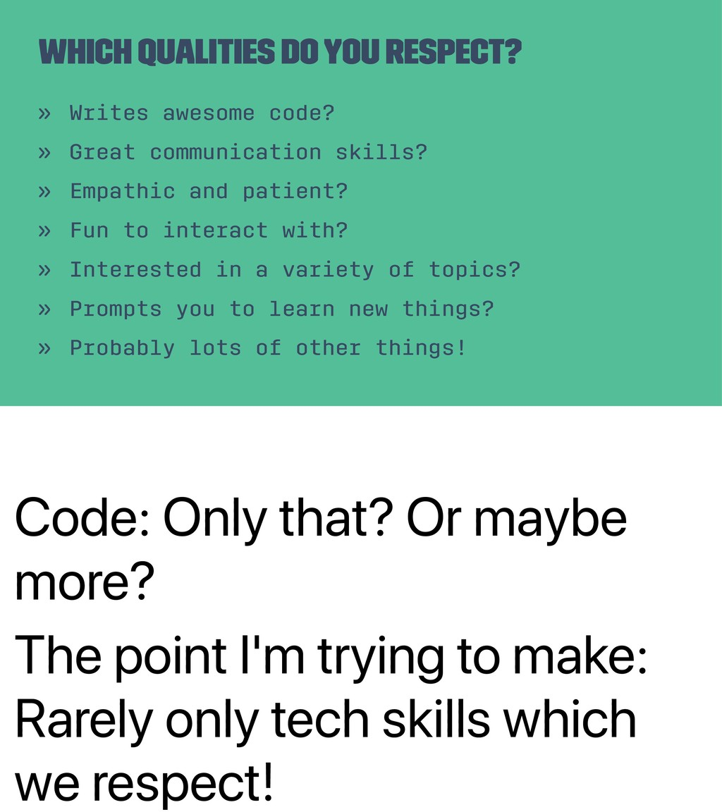 Code: Only that? Or maybe more? The point I'm t...
