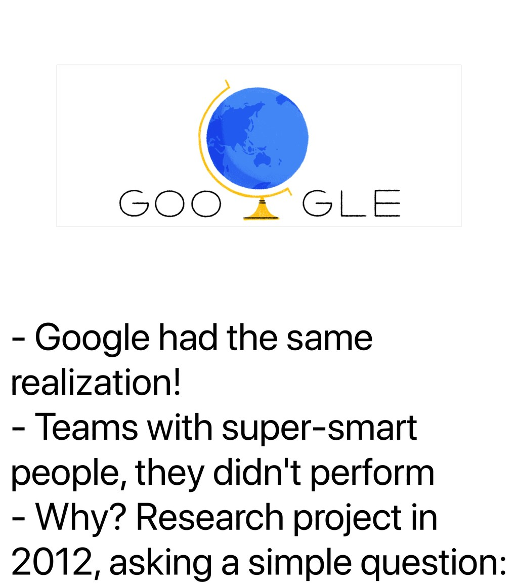 - Google had the same realization! - Teams with...