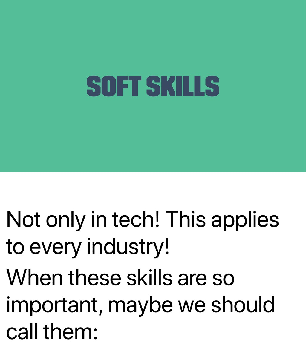 Not only in tech! This applies to every industr...