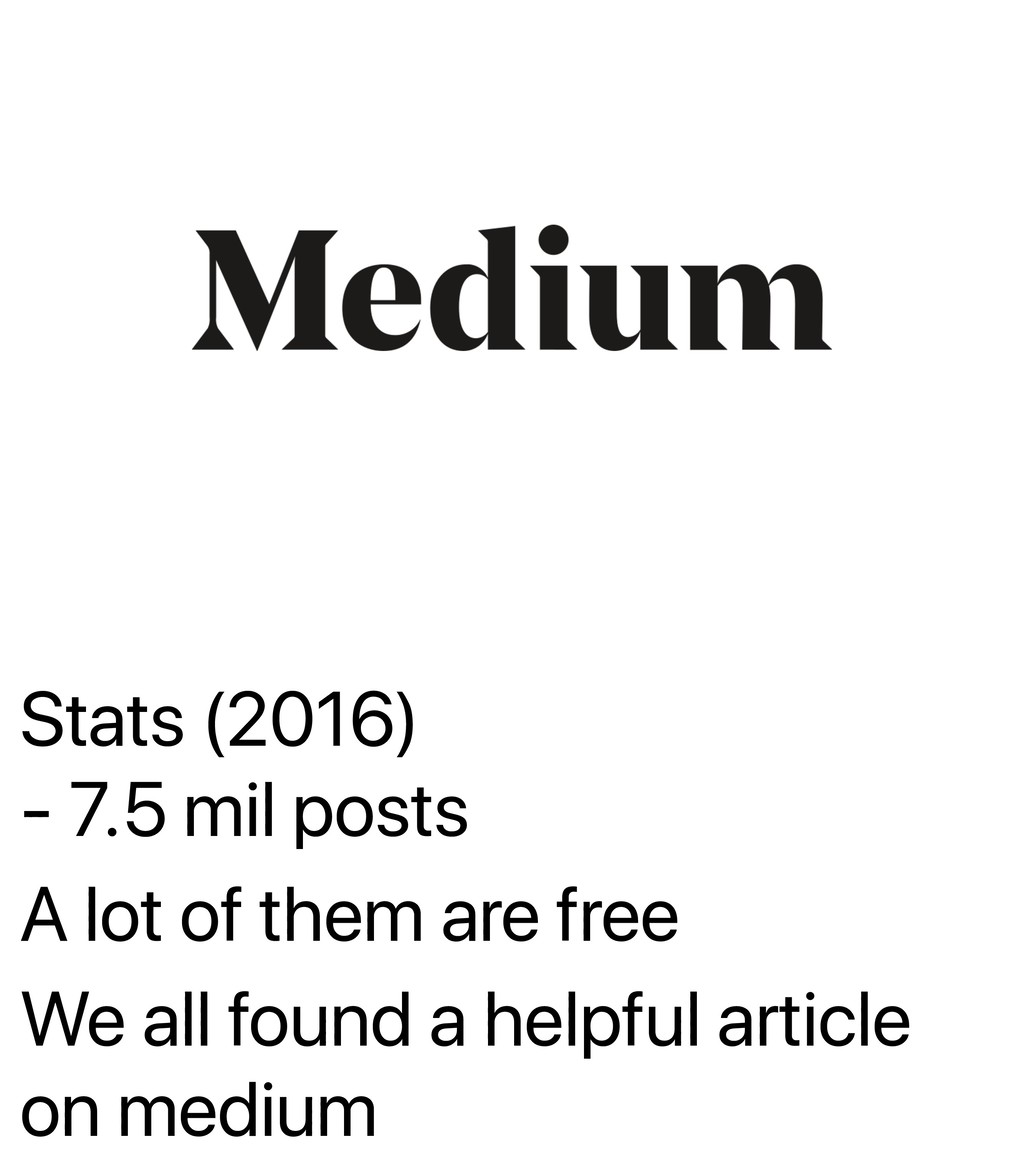 Stats (2016) - 7.5 mil posts A lot of them are ...
