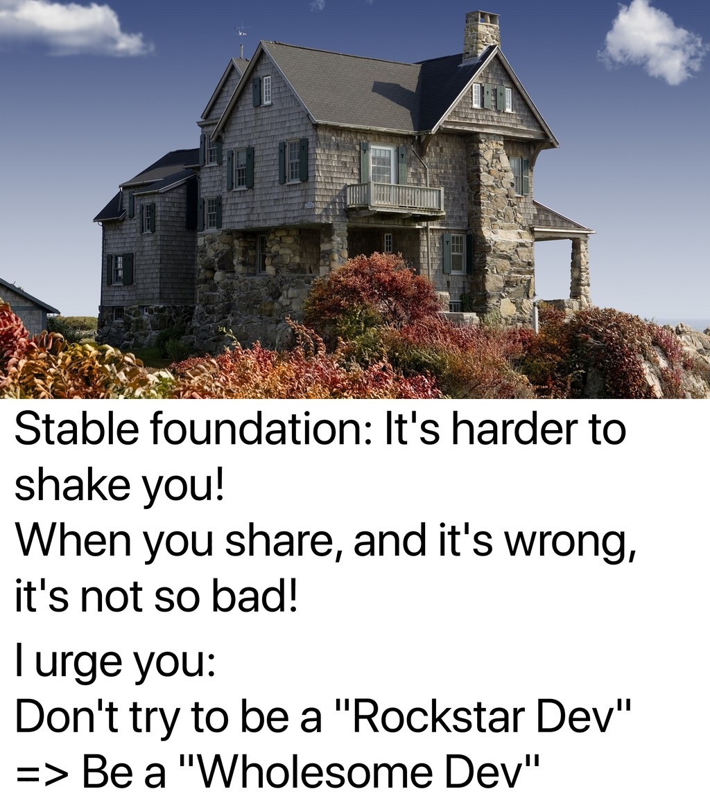 Stable foundation: It's harder to shake you! Wh...