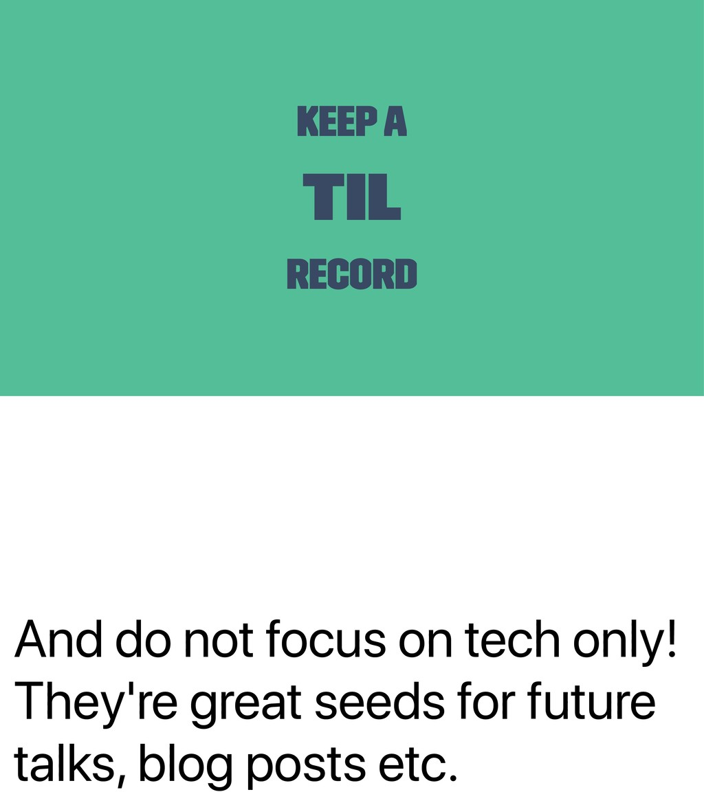 And do not focus on tech only! They're great se...
