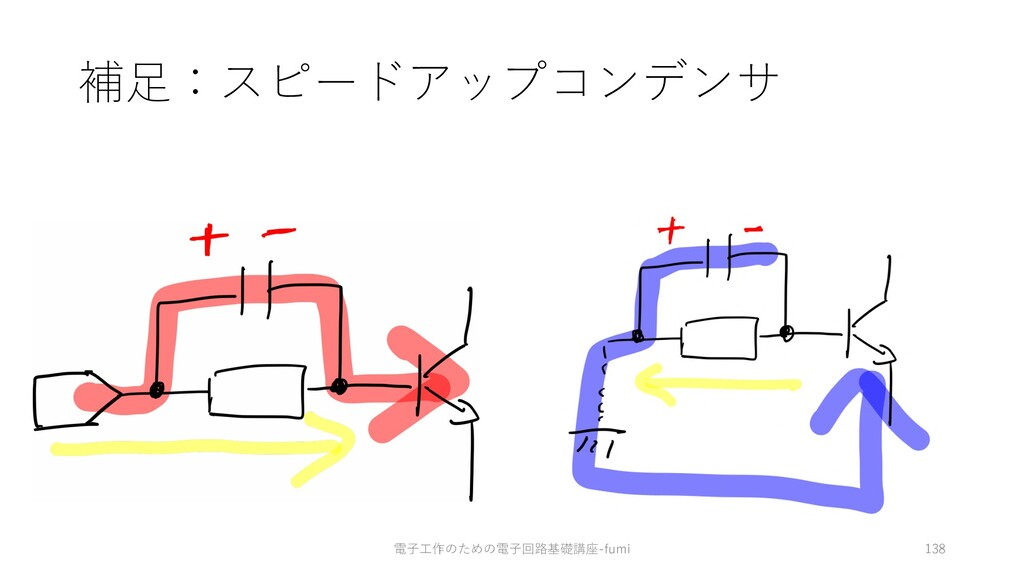 補⾜:スピードアップコンデンサ 138 電⼦⼯作のための電⼦回路基礎講座-fumi