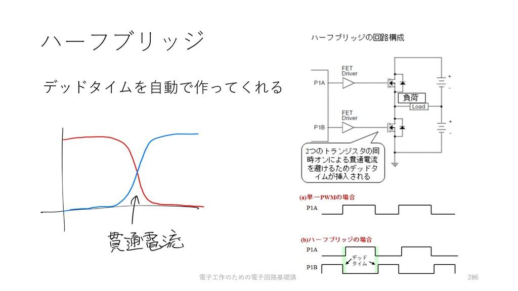 ハーフブリッジ デッドタイムを⾃動で作ってくれる 電⼦⼯作のための電⼦回路基礎講座-fumi ...