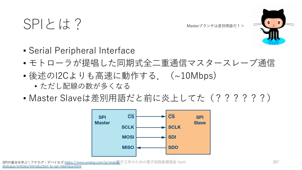 SPIとは? • Serial Peripheral Interface • モトローラが提唱...