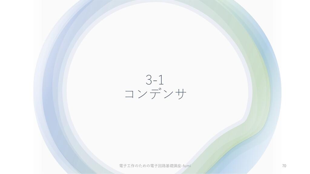 3-1 コンデンサ 70 電⼦⼯作のための電⼦回路基礎講座-fumi
