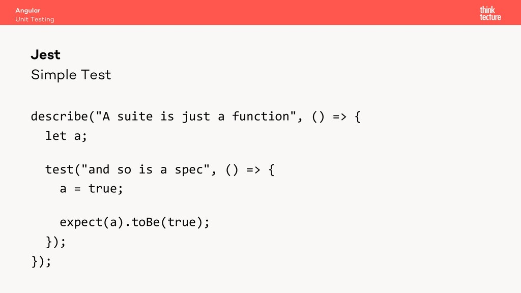 """Simple Test describe(""""A suite is just a functio..."""
