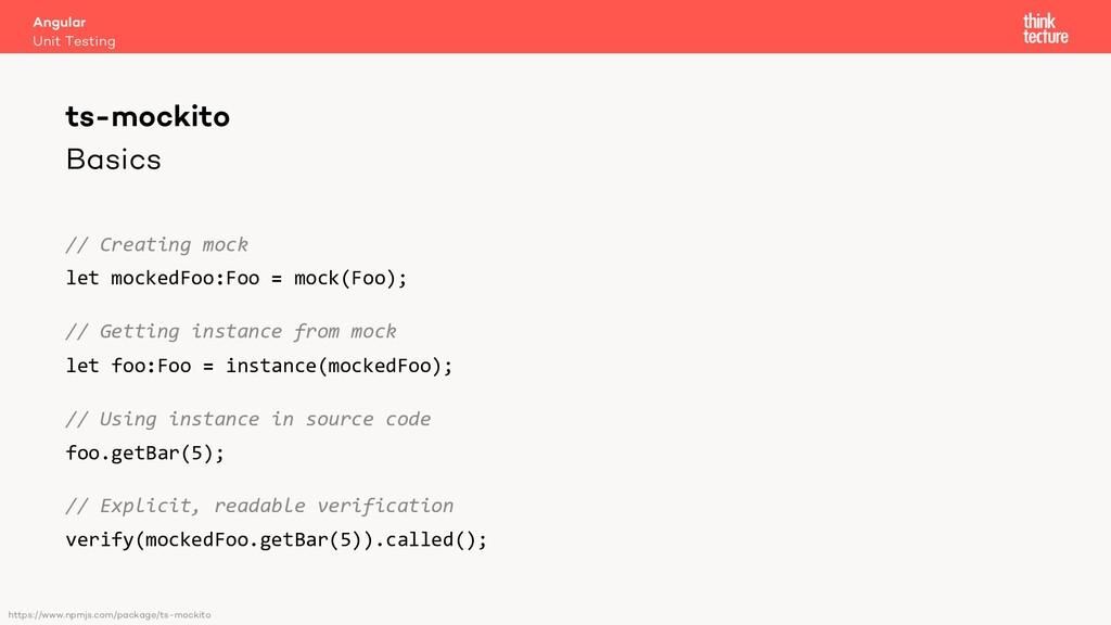 Basics // Creating mock let mockedFoo:Foo = moc...