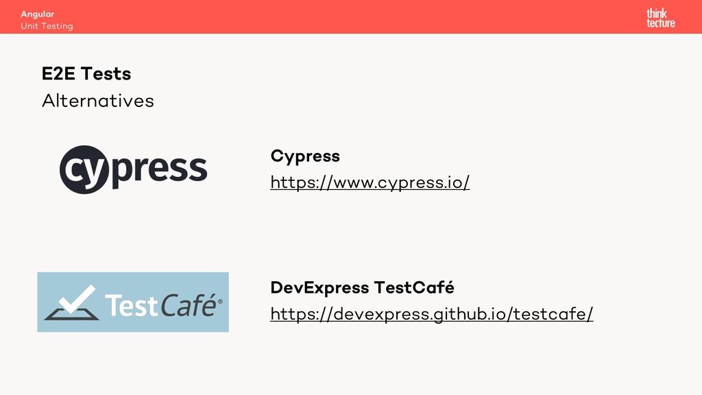 Alternatives Cypress https://www.cypress.io/ De...