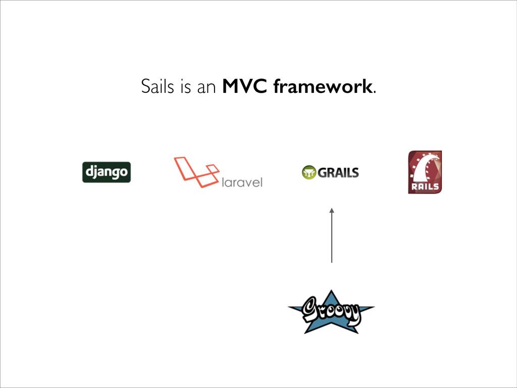 Sails is an MVC framework.