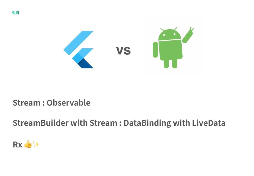 정리 vs Stream : Observable StreamBuilder with St...