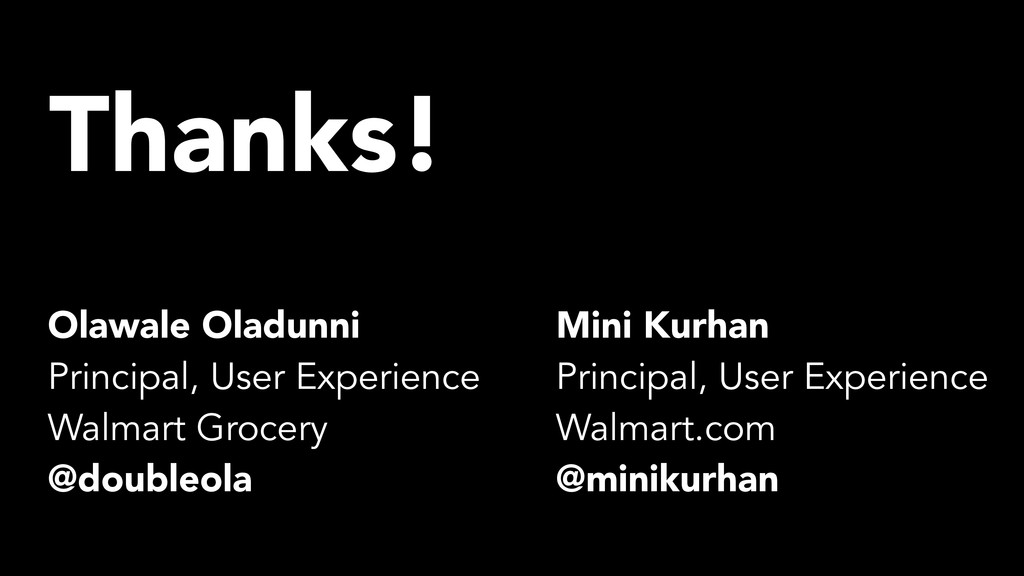 Thanks! Mini Kurhan Principal, User Experience ...
