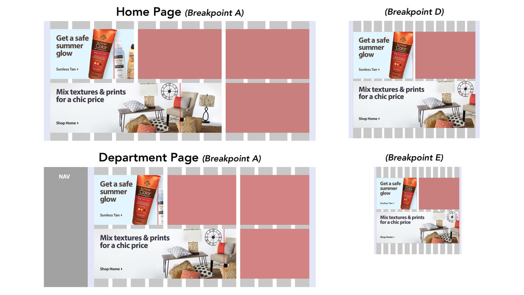 Home Page (Breakpoint A) Department Page (Break...