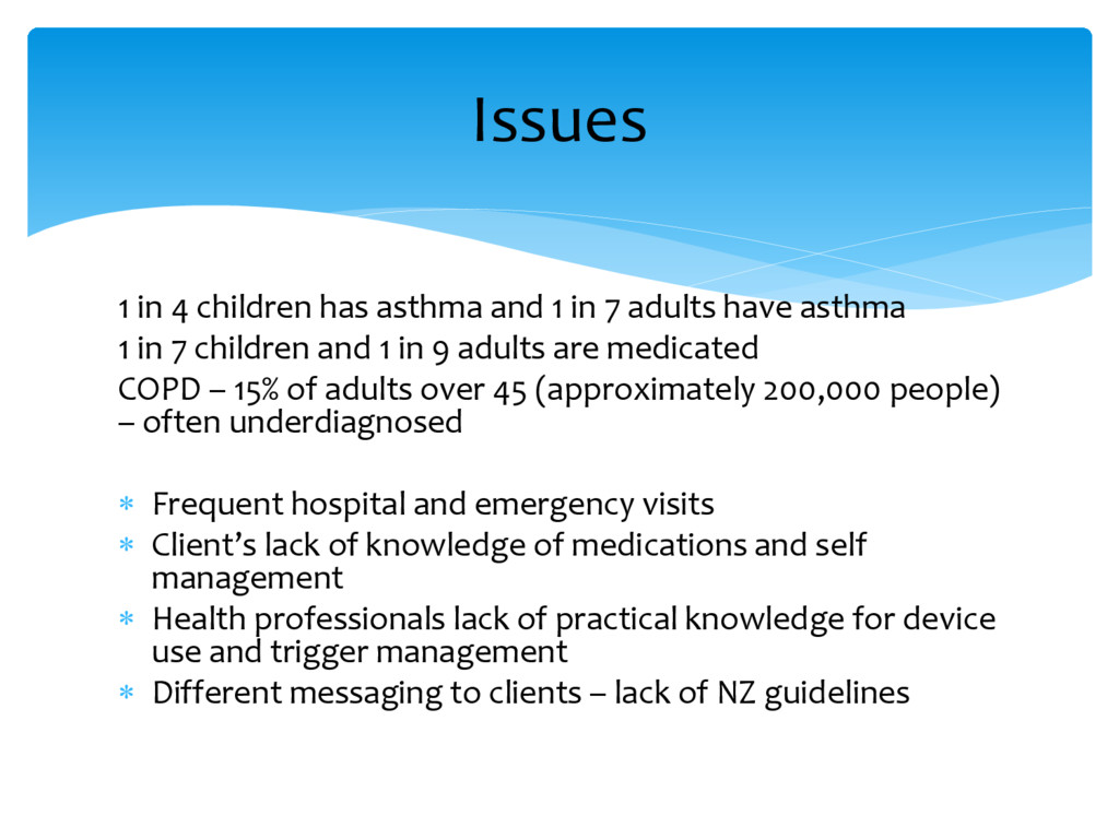 1 in 4 children has asthma and 1 in 7 adults ha...