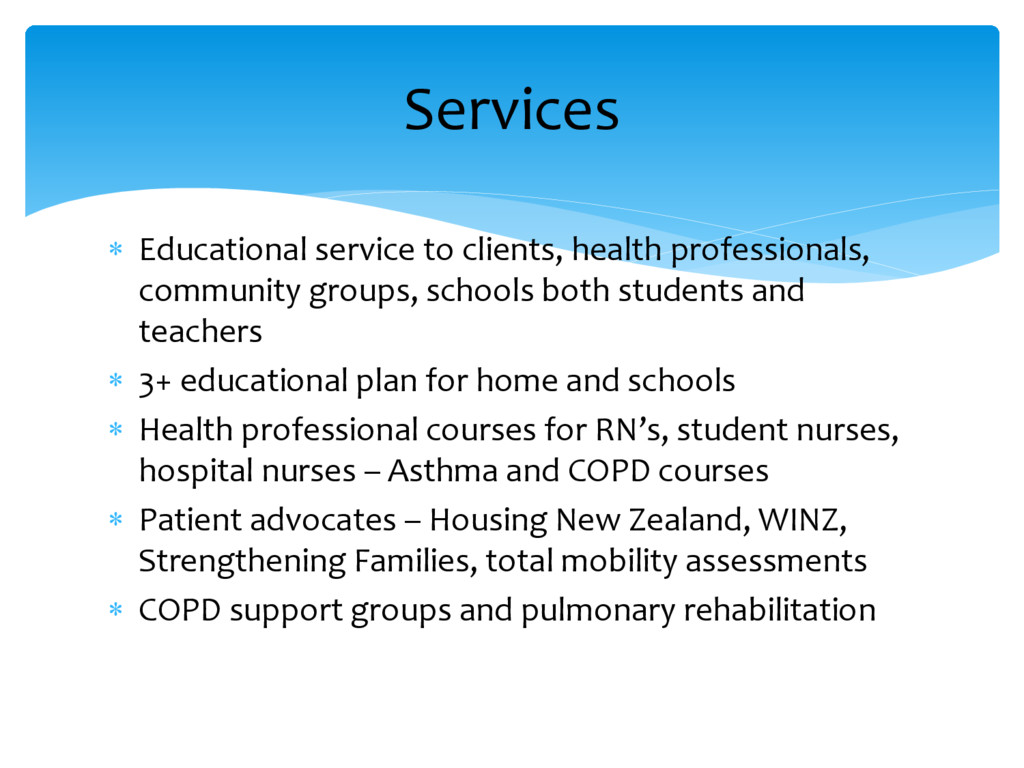  Educational service to clients, health profes...