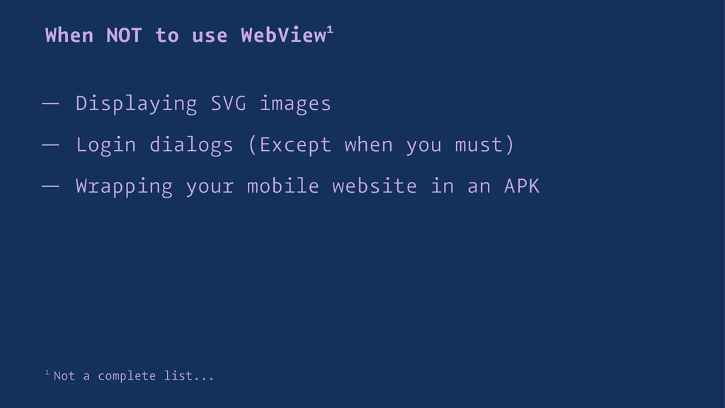 When NOT to use WebView1 — Displaying SVG image...