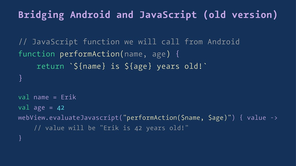 Bridging Android and JavaScript (old version) /...
