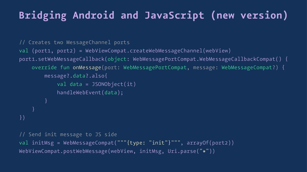 Bridging Android and JavaScript (new version) /...