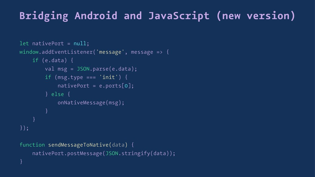 Bridging Android and JavaScript (new version) l...