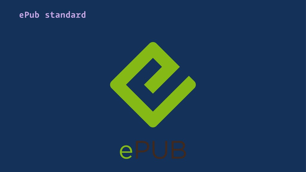 ePub standard