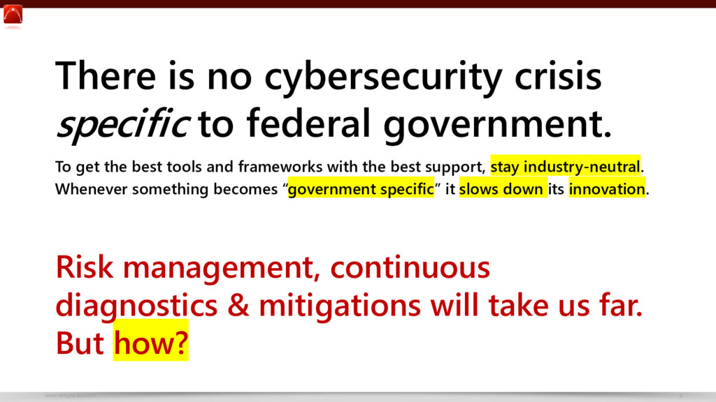 www.netspective.com 6 There is no cybersecurity...