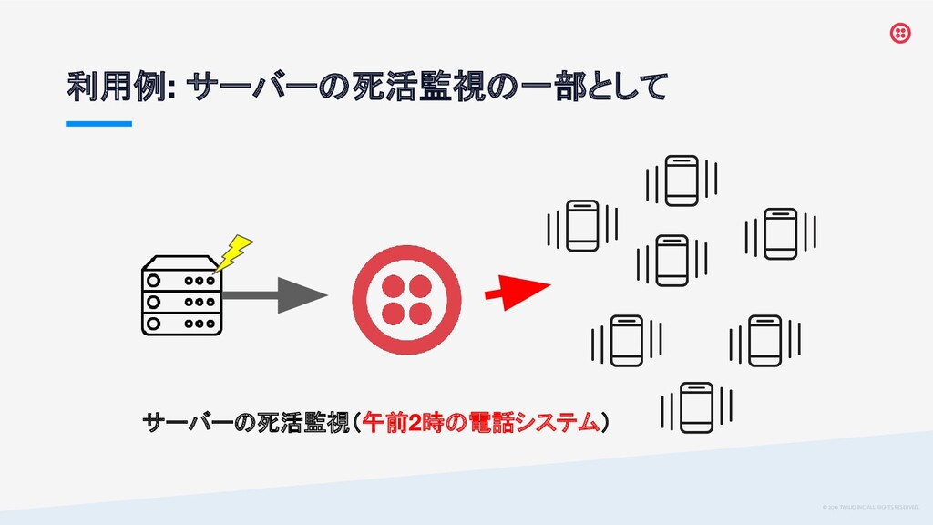 © 2019 TWILIO INC. ALL RIGHTS RESERVED. 利用例 サーバ...