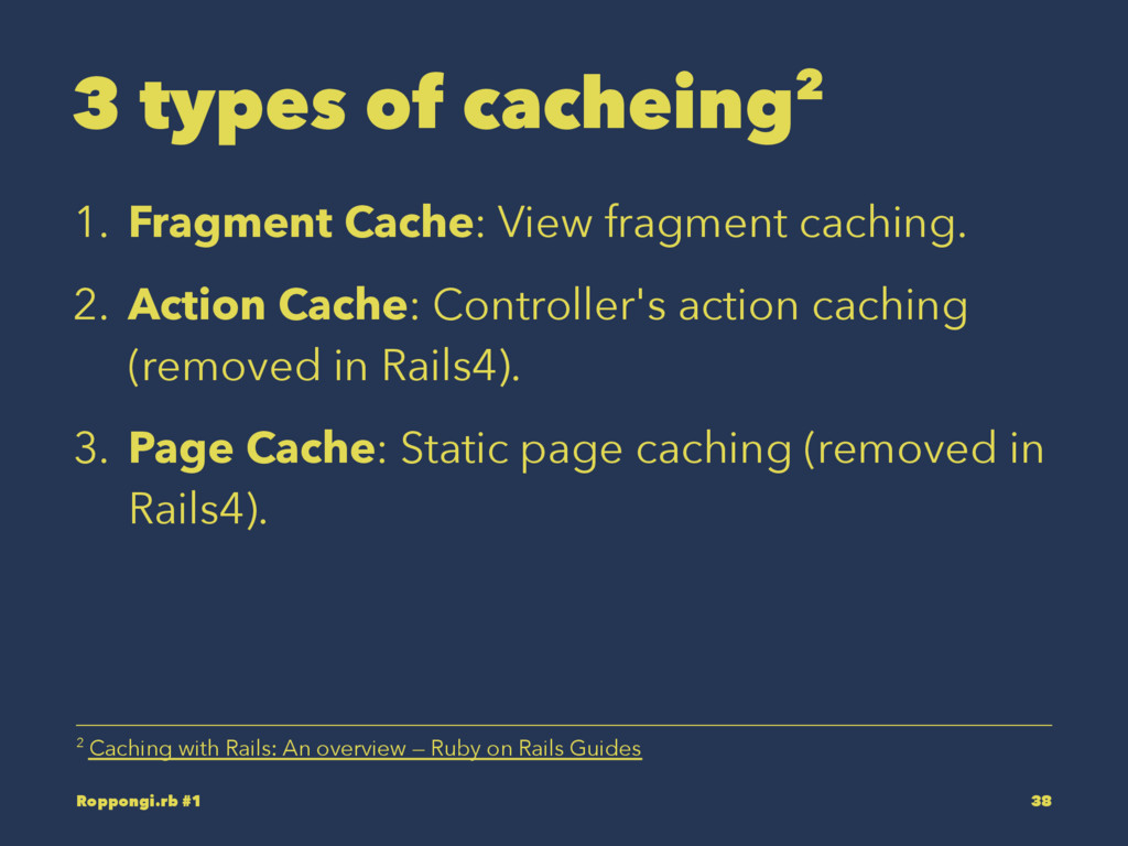 3 types of cacheing2 1. Fragment Cache: View fr...