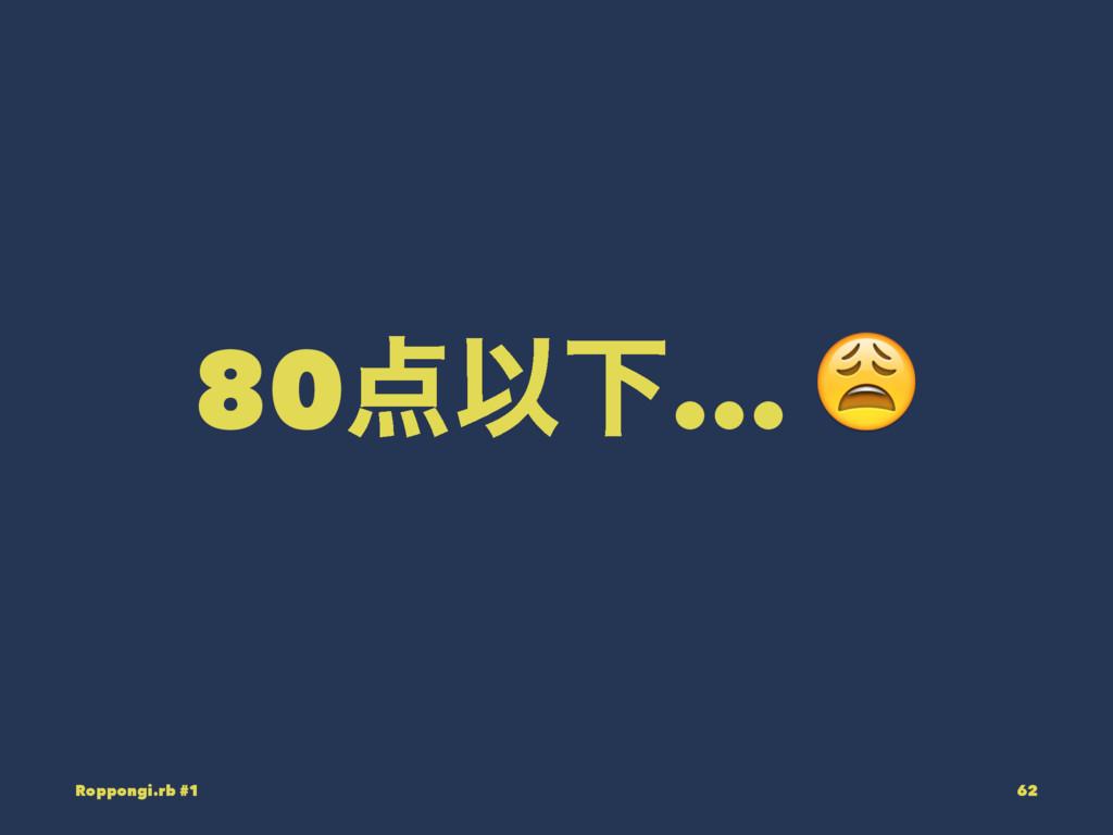 80ҎԼ... ! Roppongi.rb #1 62