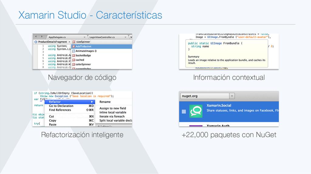 Xamarin Studio - Características Navegador de ...