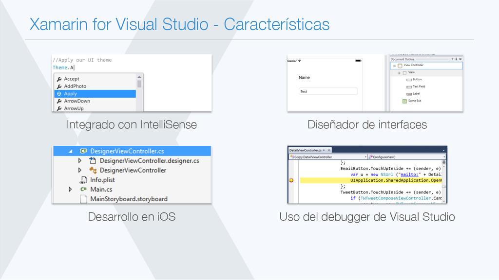 Xamarin for Visual Studio - Características In...