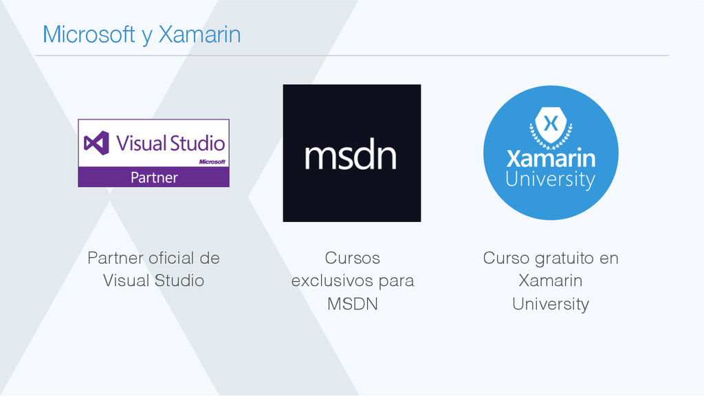 Microsoft y Xamarin Curso gratuito en Xamarin ...
