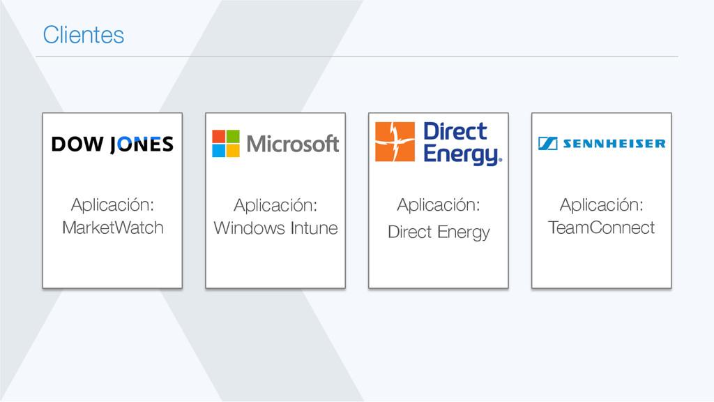 Clientes Aplicación: TeamConnect Aplicación:...