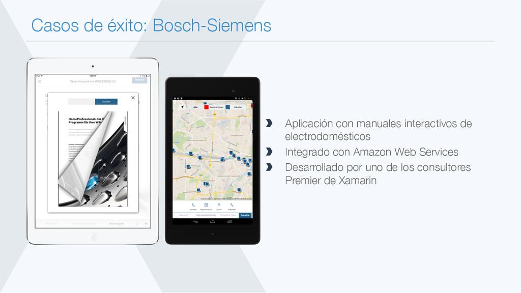 Casos de éxito: Bosch-Siemens  Aplicación con...