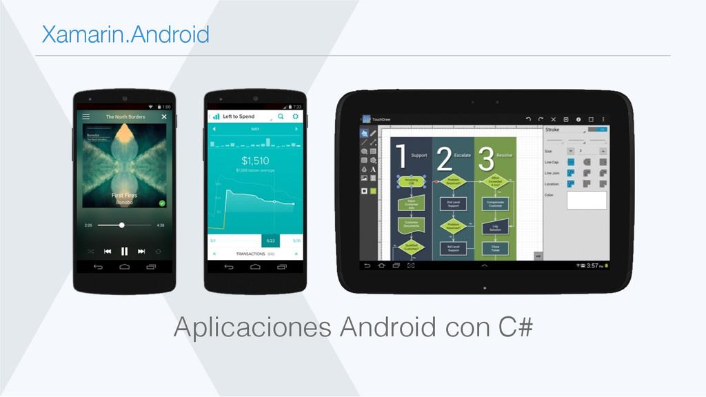 Xamarin.Android Aplicaciones Android con C#!