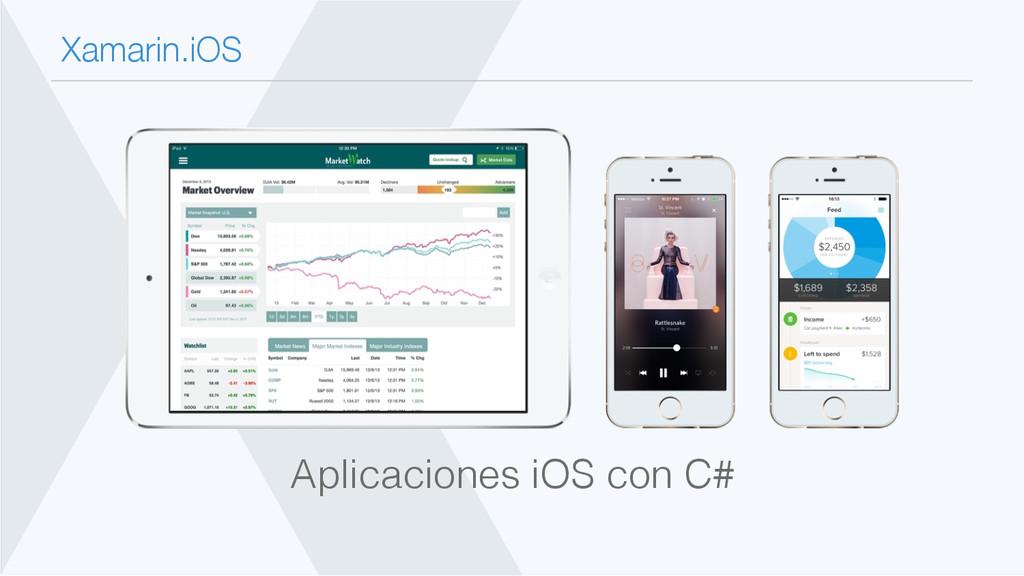 Xamarin.iOS Aplicaciones iOS con C#!