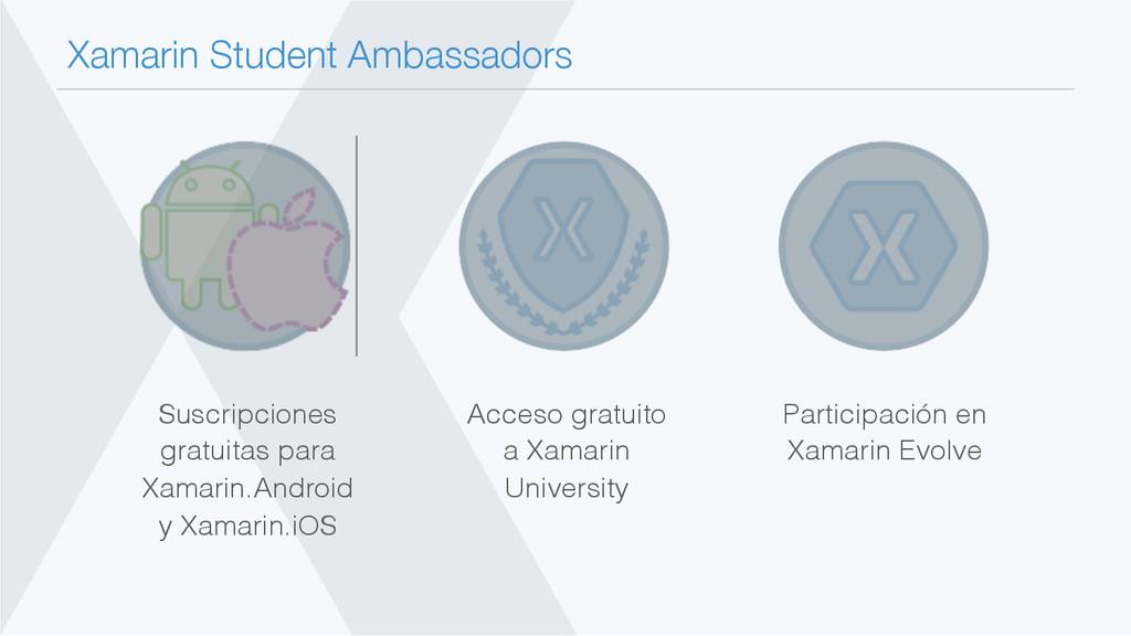 Xamarin Student Ambassadors Participación en X...