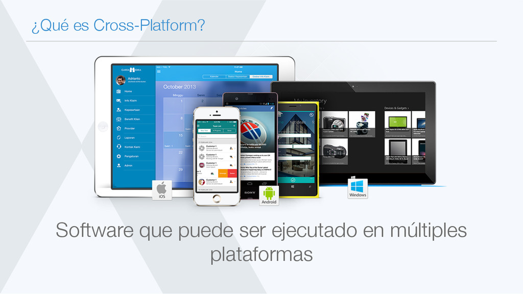 ¿Qué es Cross-Platform? Software que puede ser...