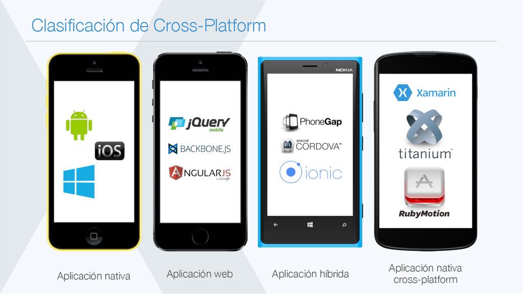 Clasificación de Cross-Platform Aplicación nati...