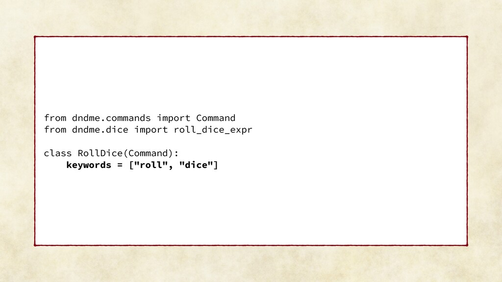 from dndme.commands import Command from dndme.d...